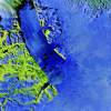 Grönlandi gleccser kékben és zöldben