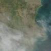 Óriási porvihar a Kaszpi-tónál – Ûrfelvétel az ELTE mûholdvevõ állomásáról