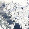 Jégtáblák Szentpétervár körül – Ûrfelvétel az ELTE mûholdvevõ állomásáról