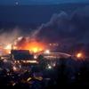 A kanadai olajvonat tüze az ûrbõl