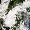 Rekordhideget okozó ciklon - Ûrfelvétel az ELTE mûholdvevõ állomásáról